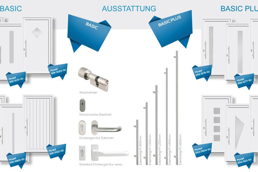 ERFEBA BASIC'S Aluminium Haustüren